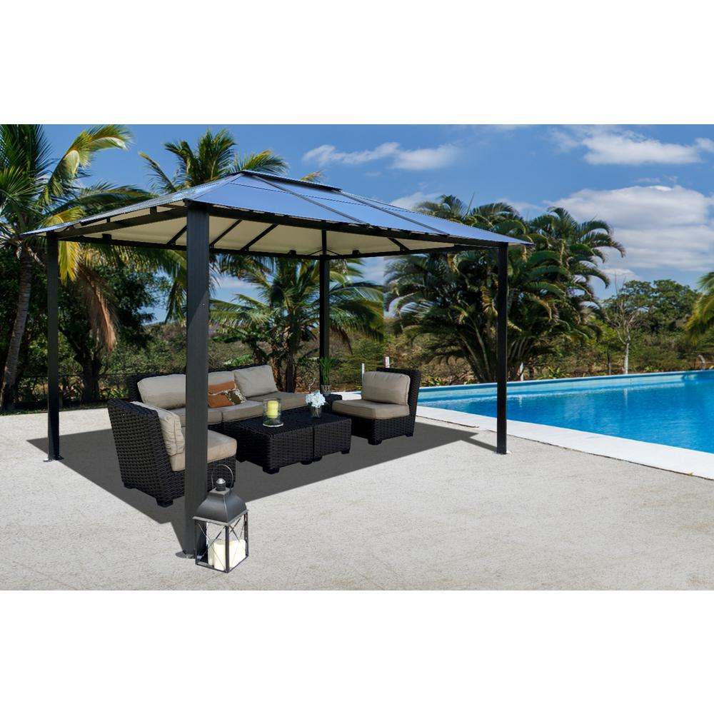 Paragon-Outdoor 10 ft. x 13 ft. Bermuda Hard Top Gazebo  sc 1 st  The Home Depot : patio canopy home depot - memphite.com