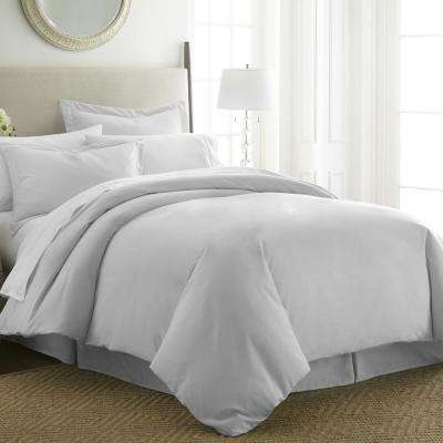Performance Light Gray King 3-Piece Duvet Cover Set