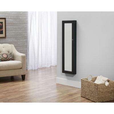 Black Deluxe Mirrored Jewelry Armoire