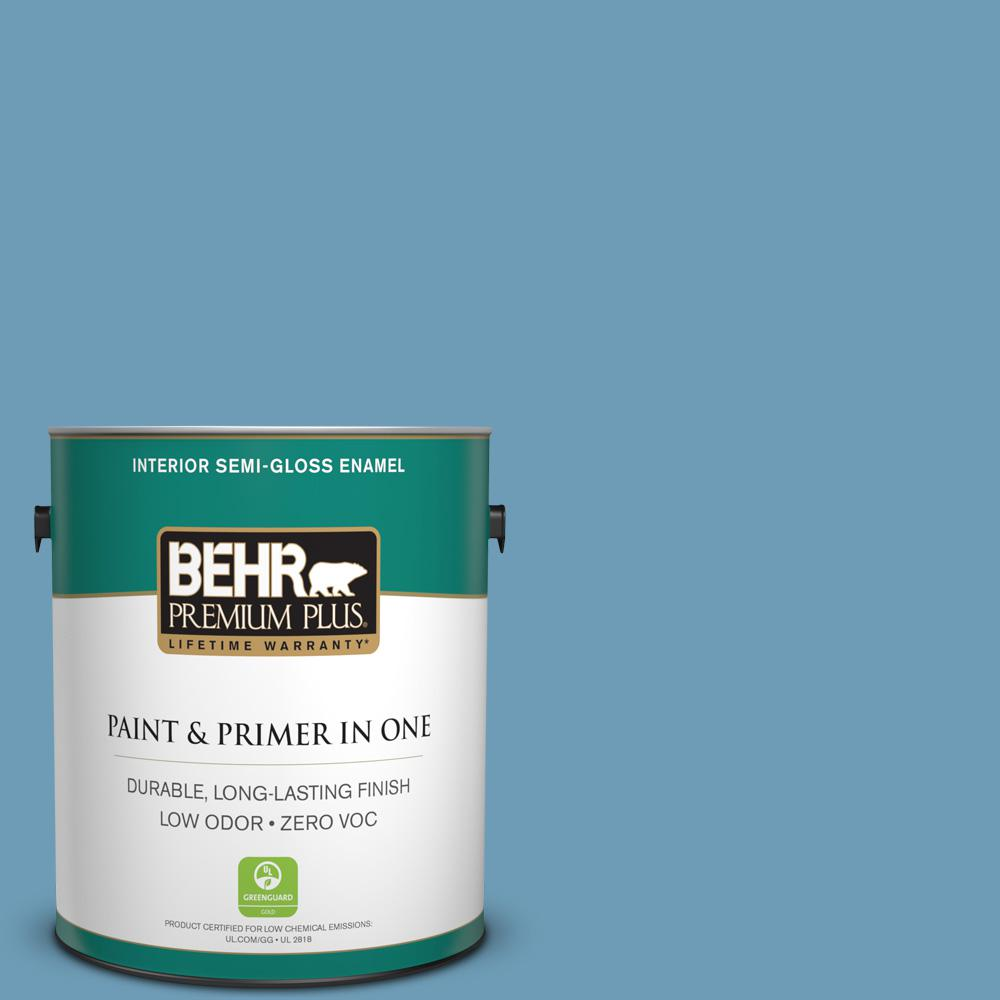 1-gal. #560D-5 Ocean View Zero VOC Semi-Gloss Enamel Interior Paint