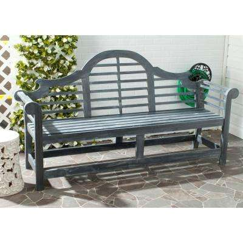 Khara Ash Gray Patio Bench