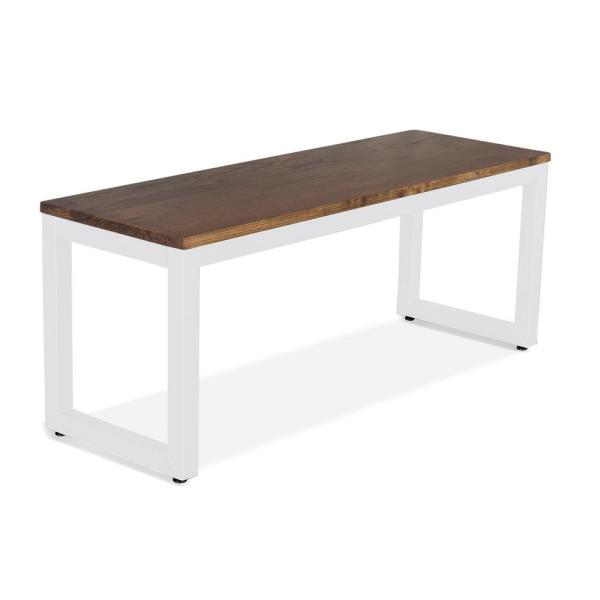 Loft White and Chocolate Spice 66 in. Bench