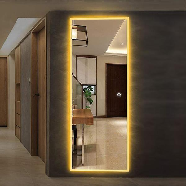 Neu Type 64 6 In X 20 9 In Oversized Rectangle Frameless Bathroom Led Mirror With Lights Jj00359zzi The Home Depot