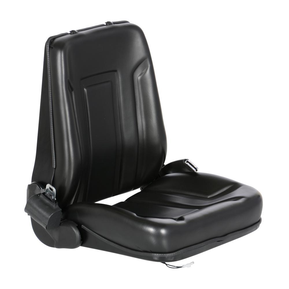 Vestil Deluxe Forklift Vinyl Seat with Seat Belt