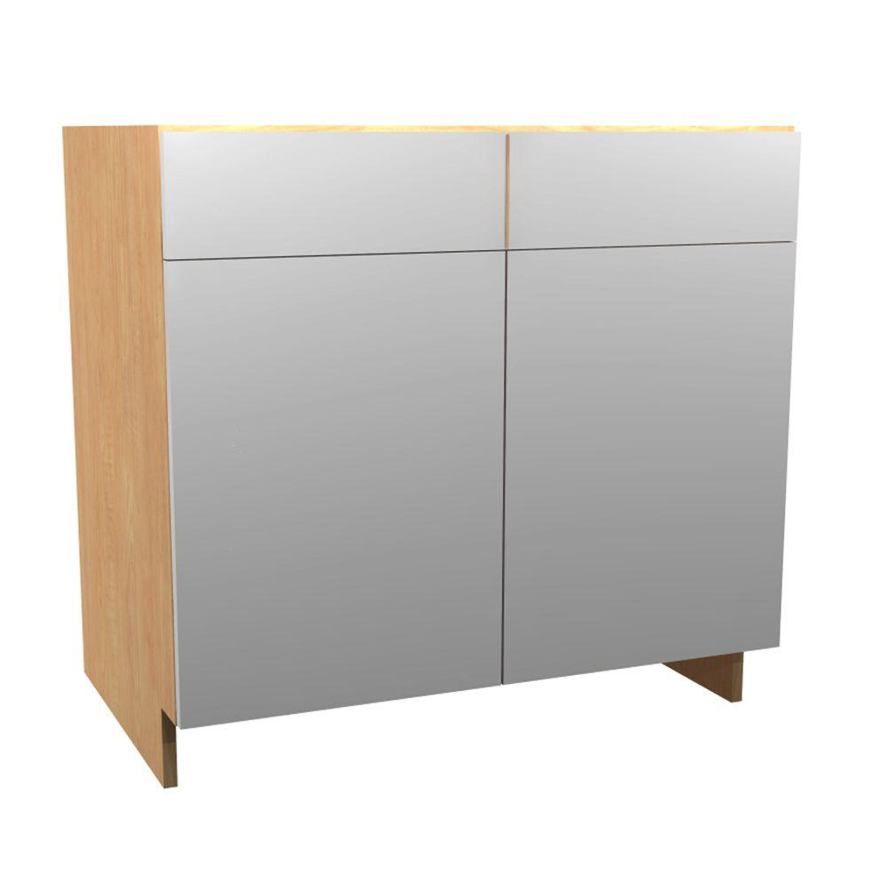 36x34.5x24 in. Salerno Sink Base Cabinet 2 U-Shape Pullouts 2 Soft