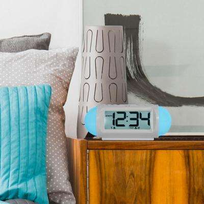 Mood Light 7.25 in. LED Alarm Table Clock with Nature Sounds and MP3 Aux-Input