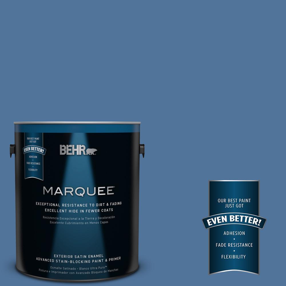 BEHR MARQUEE 1-gal. #580D-6 Liberty Satin Enamel Exterior Paint