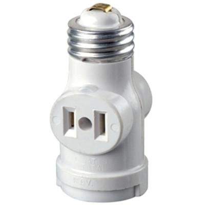 Socket with Outlets, White