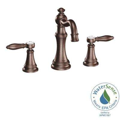 Weymouth 8 in. Widespread 2-Handle High-Arc Bathroom Faucet Trim Kit in Oil Rubbed Bronze (Valve Not Included)