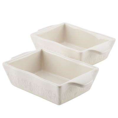 Home Collection 2-Piece Ceramics Au Gratin Set, 12 oz. in French Vanilla