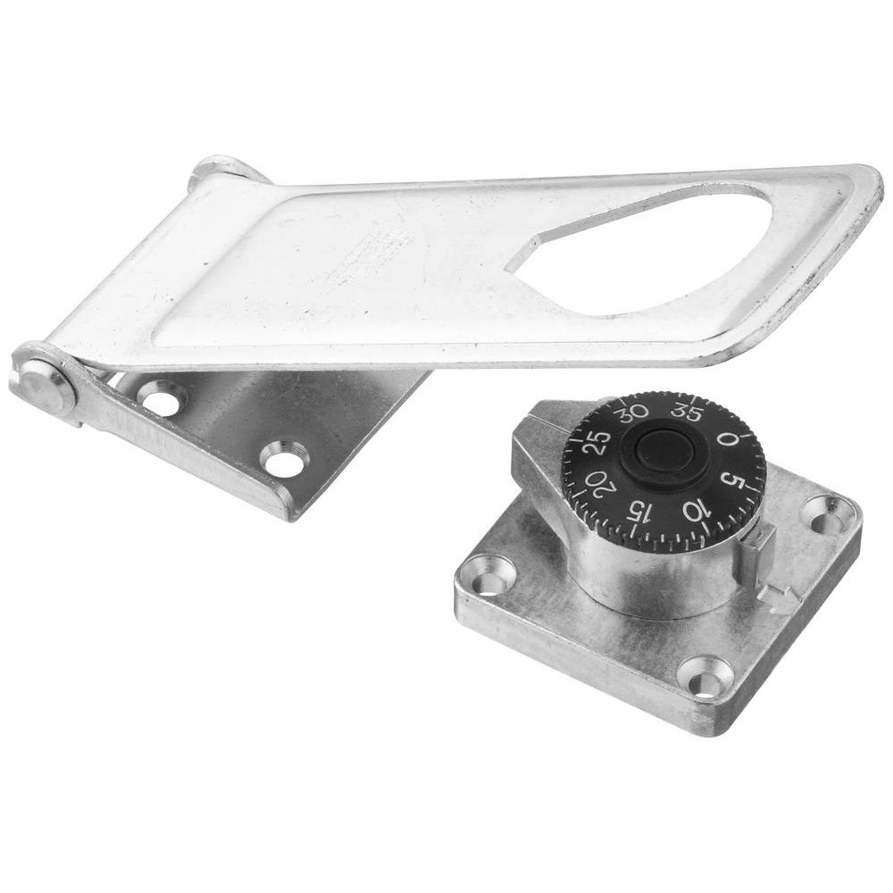 Stanley-National Hardware 6 in. Zinc Plate Combination Locking Hasp