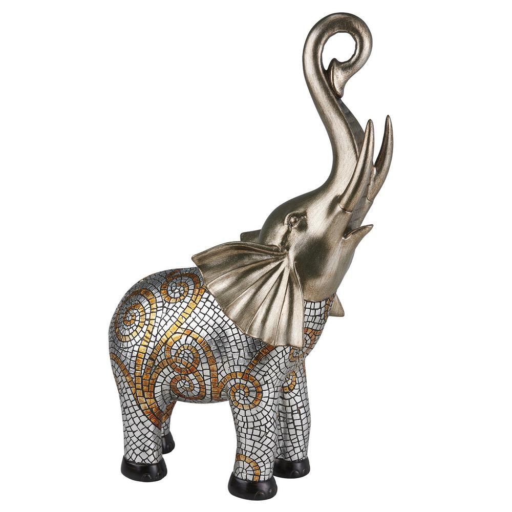 Theos Elephant Polyresin Decorative Piece