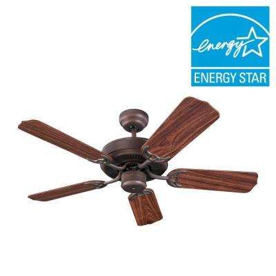 Homeowners Select II 42 in. Roman Bronze Ceiling Fan with American Walnut Blades