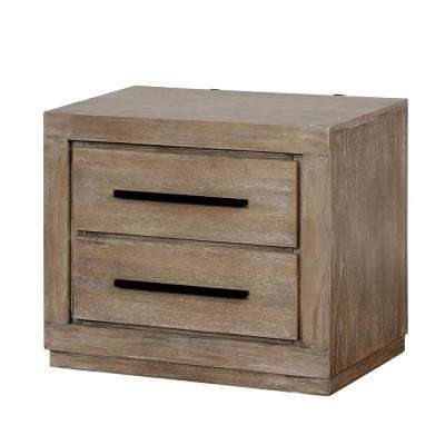 Jensen 2-Drawer Weathered Natural Tone Nightstand
