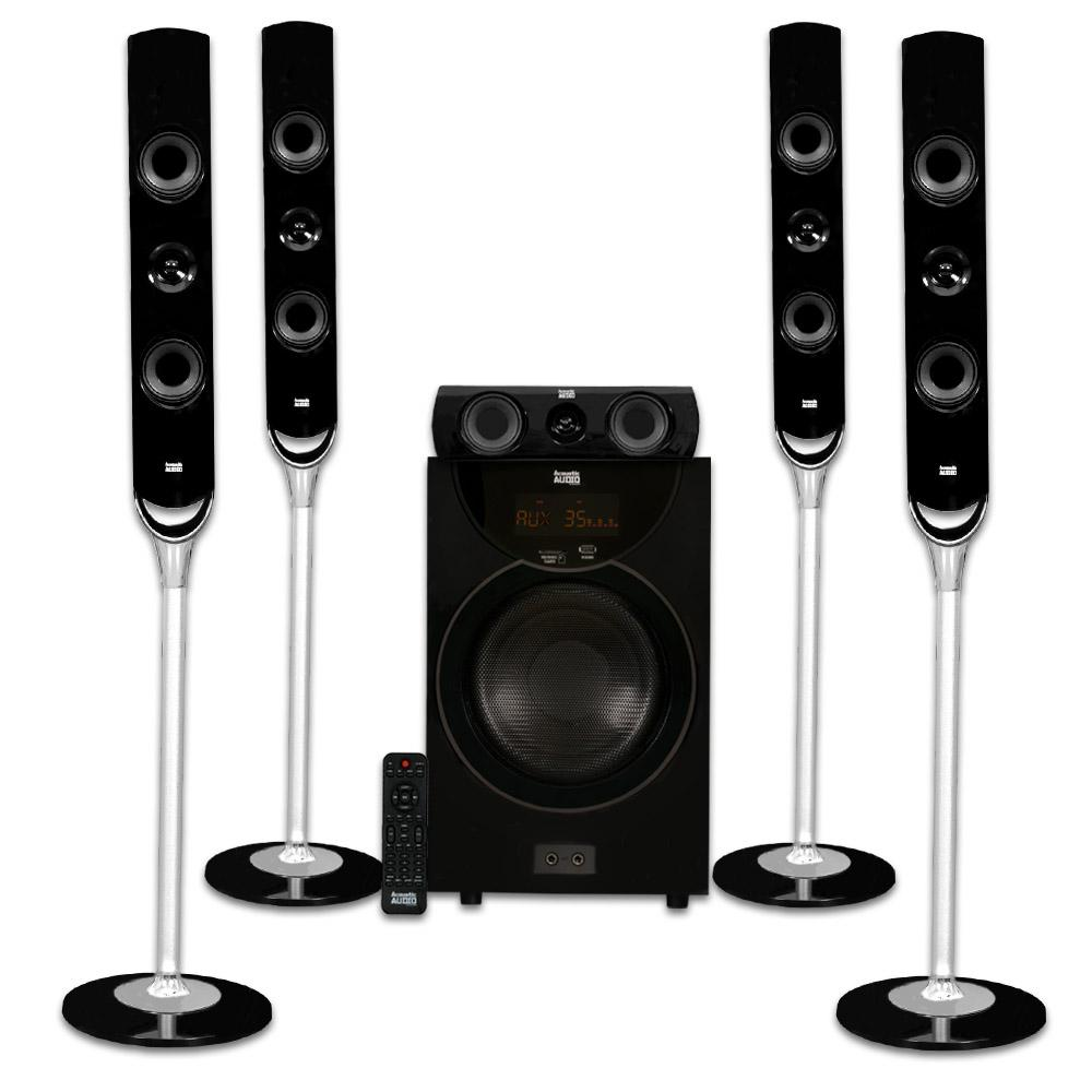 Tower 5.1 Bluetooth Home Speaker System with 8 in. Powere...