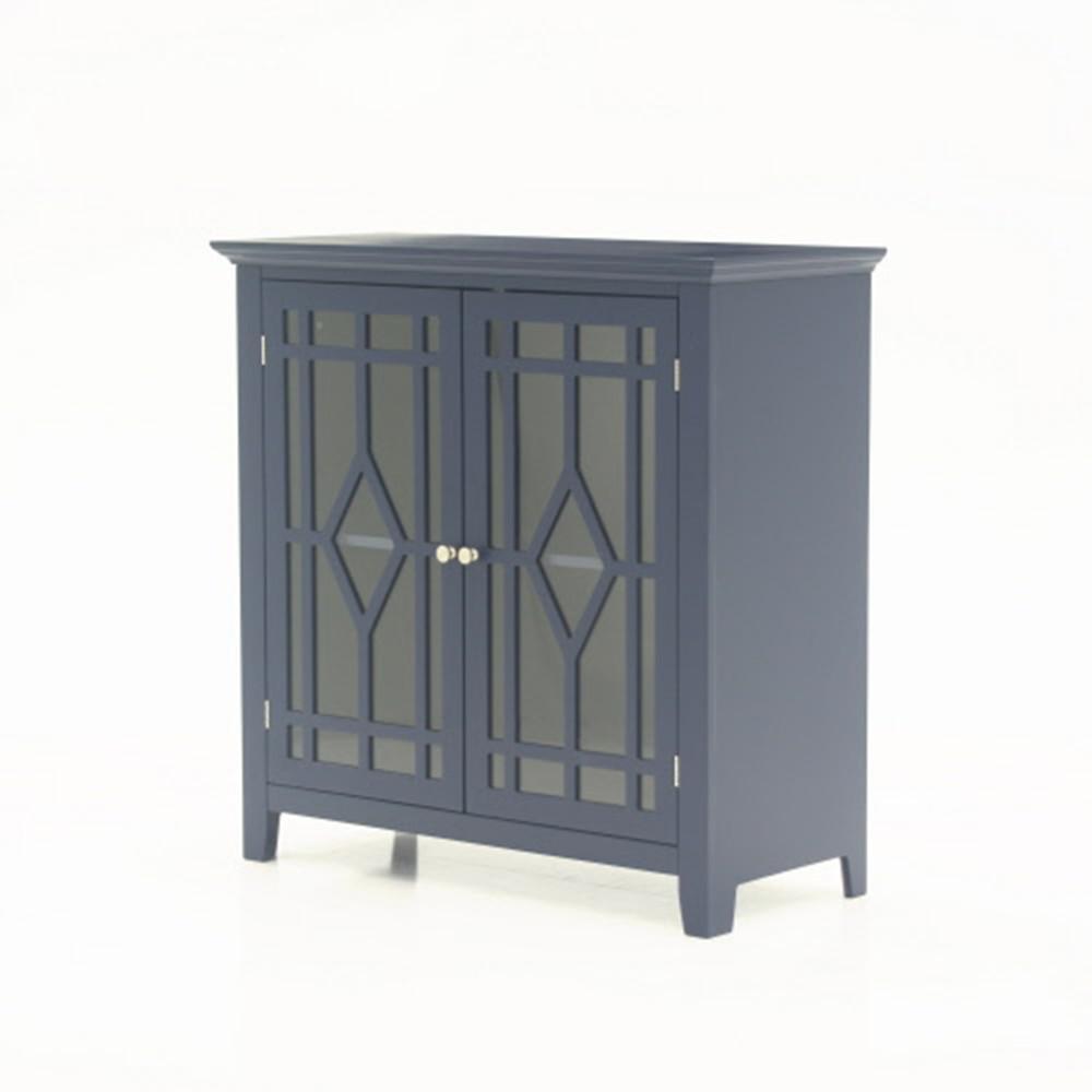 SAUDER Shoal Creek Indigo Blue Accent Storage Cabinet 420128