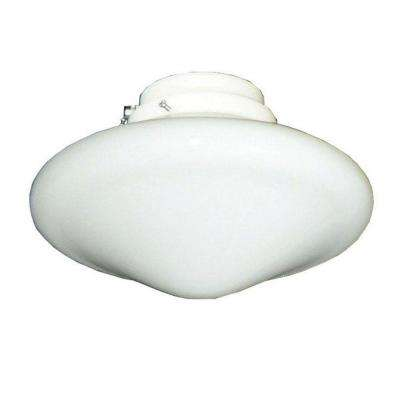113 Tapered Schoolhouse Pure White Indoor/Outdoor Ceiling Fan Light