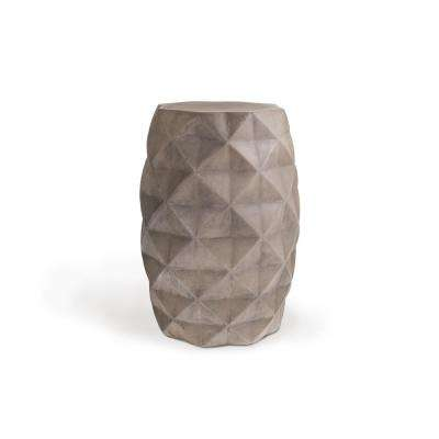 Katherine Round Concrete Stone Outdoor Accent Table