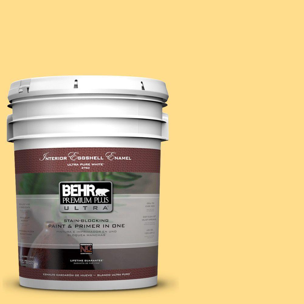 5 gal. #330B-5 Yellow Corn Eggshell Enamel Interior Paint and Primer