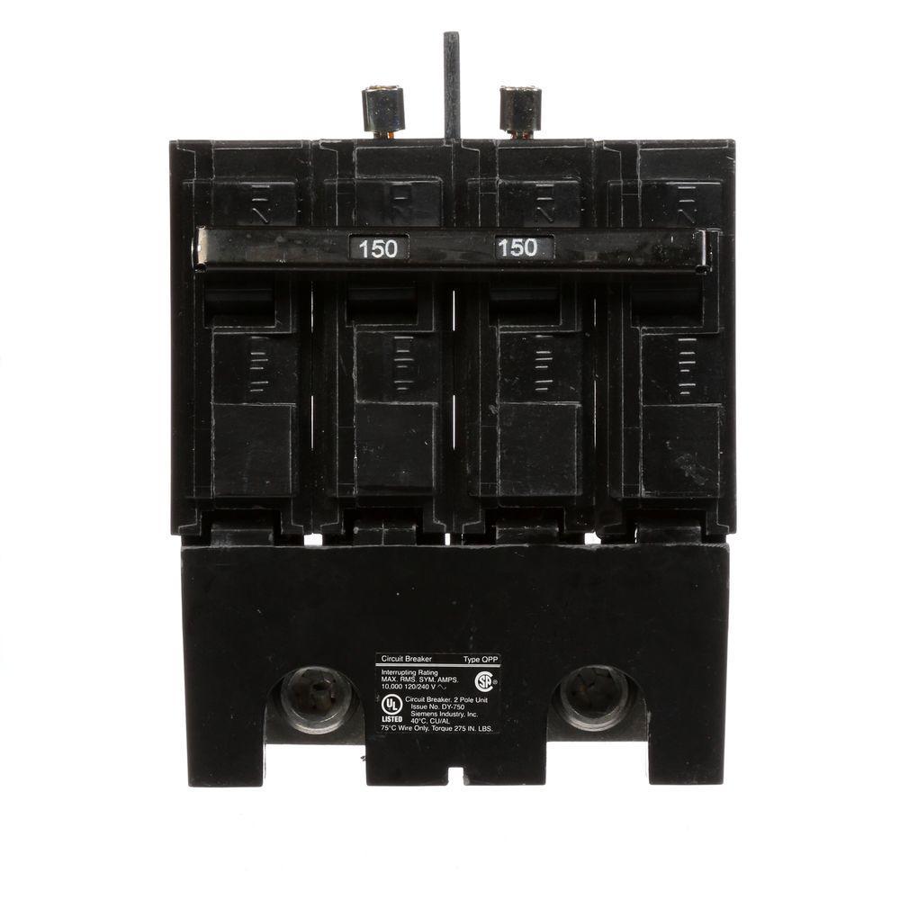 150 Amp 4-Pole Type QPP 10kA Bolt-on Circuit Breaker