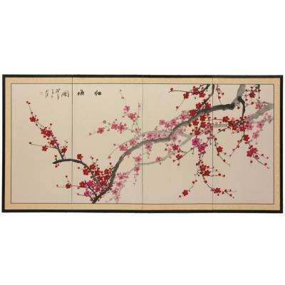 "36 in. x 72 in. ""Plum Blossom Chinese Painting"" Wall Art"