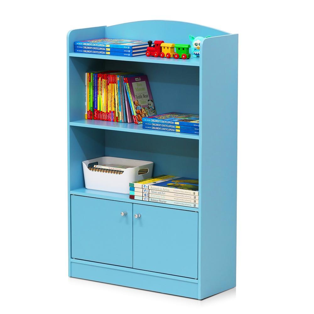 KidKanac Light Blue Storage Cabinet Bookshelf