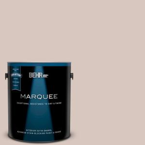 Behr Marquee 1 Gal Ppu2 06 Wisp Of Mauve Satin Enamel Exterior Paint And Primer In One 945001 The Home Depot