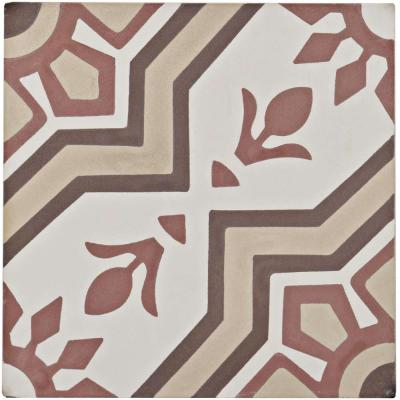 Cemento Ellis Sunset Encaustic 8 in. x 8 in. Cement Handmade Floor and Wall Tile (5.51 sq. ft. / Case)