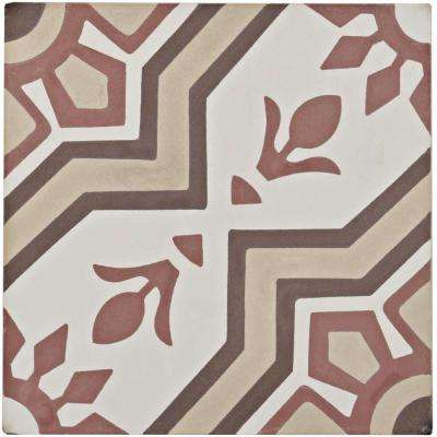 Cemento Ellis Sunset Encaustic 7-7/8 in. x 7-7/8 in. Cement Handmade Floor and Wall Tile
