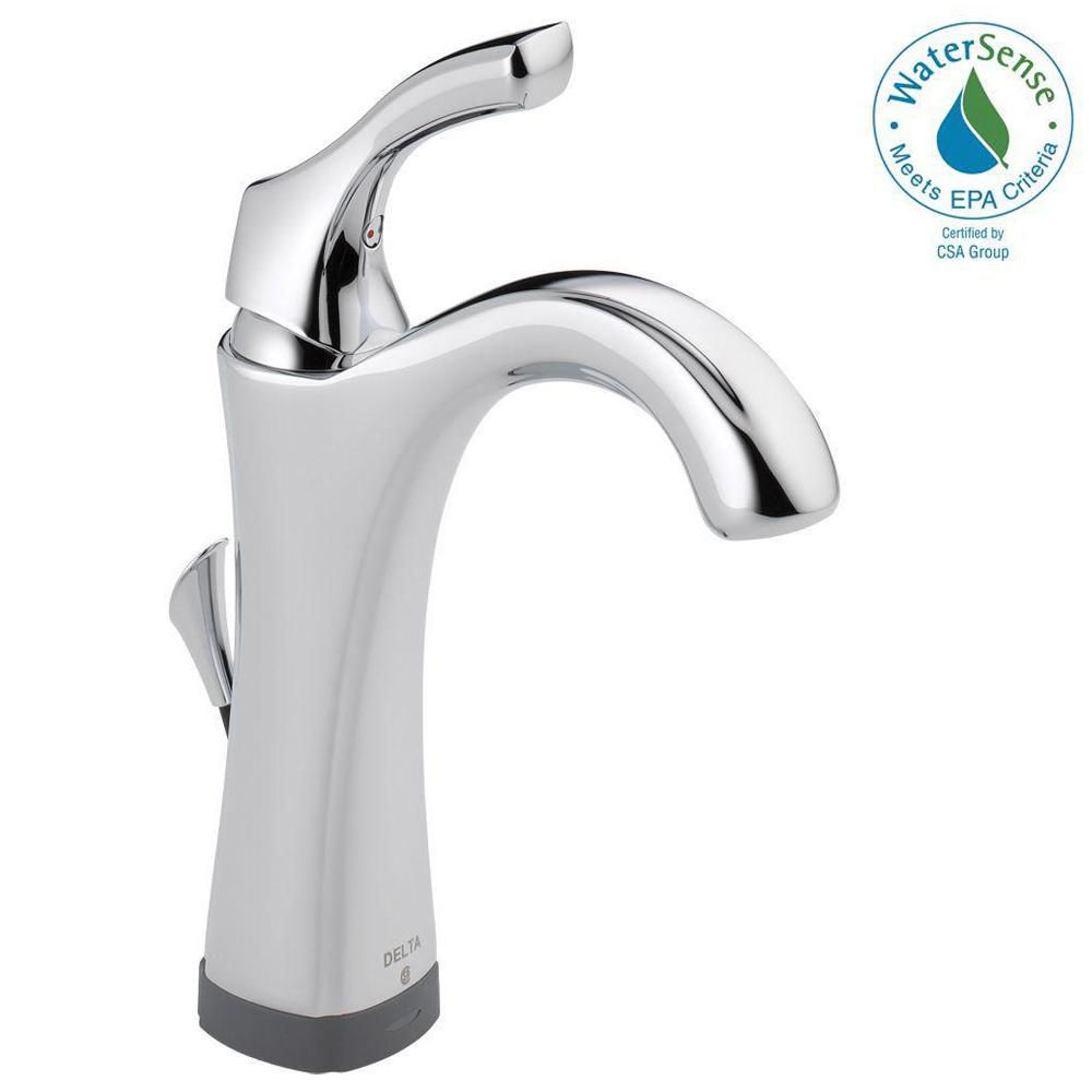Delta Addison Single Hole Single-Handle Bathroom Faucet with Touch2O ...