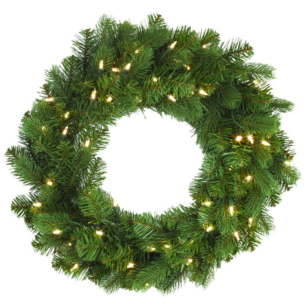 Pre Lit Christmas Wreath With Timer