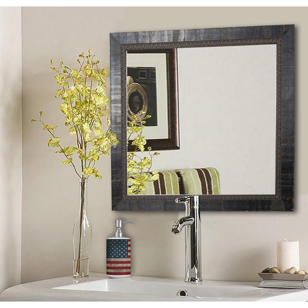 34.5 in. x 34.5 in. Ava Tuscan Ebony Square Vanity Wall Mirror