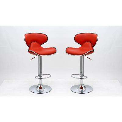 Classy Pablo Red Barstool with Comfortable ...  sc 1 st  The Home Depot : red bar stool chairs - islam-shia.org