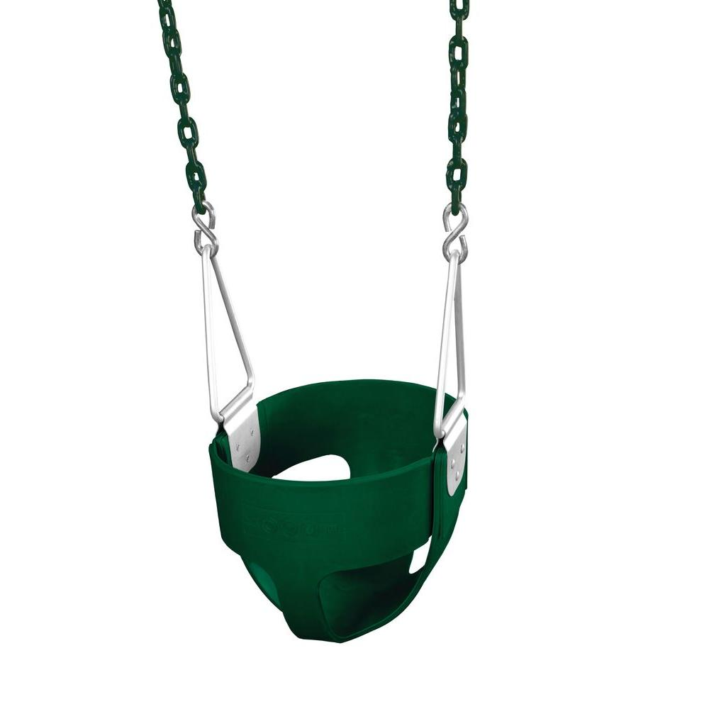 Gorilla Playsets Commercial Full-Bucket Swing Assembly (Green)