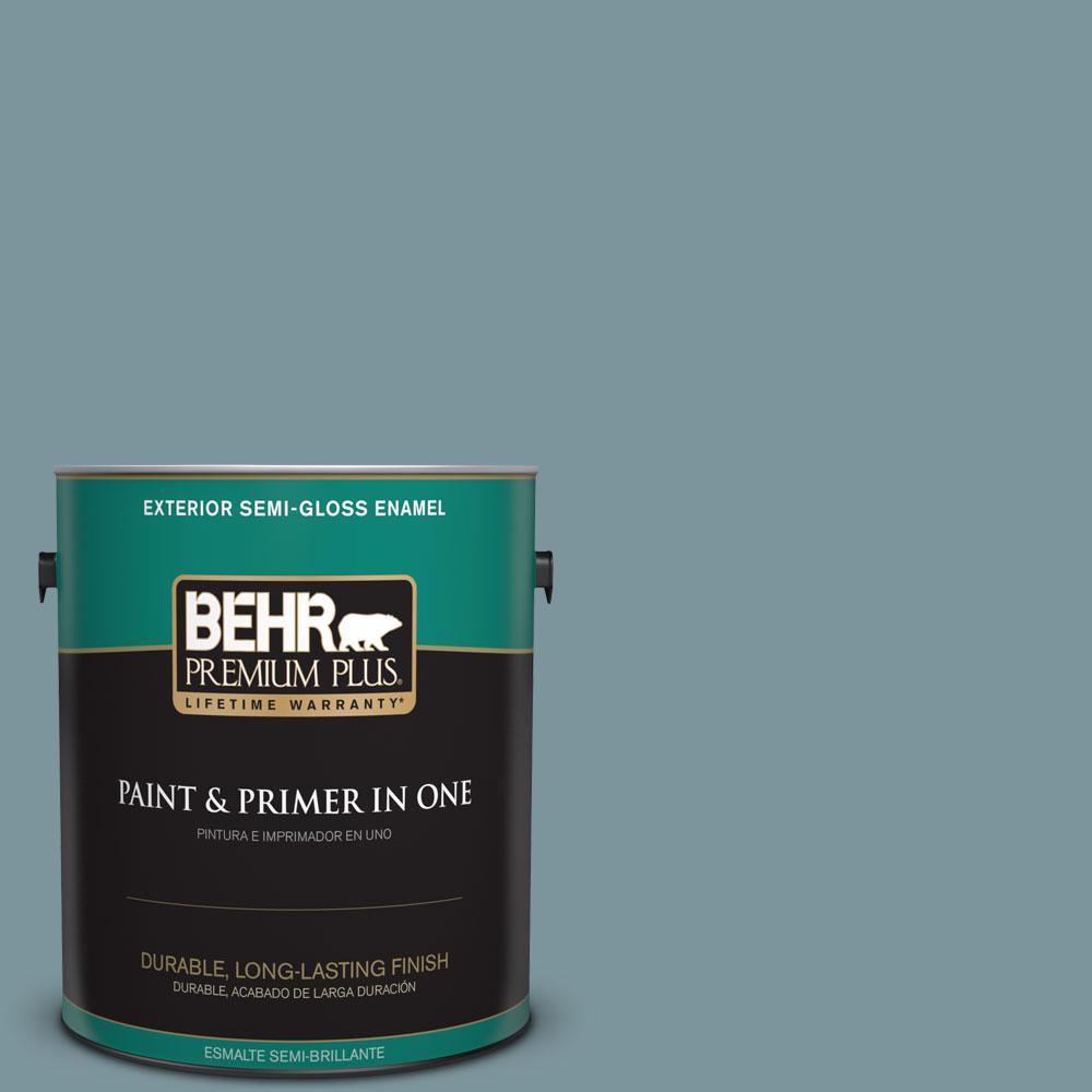 1-gal. #ECC-56-3 Lake View Semi-Gloss Enamel Exterior Paint