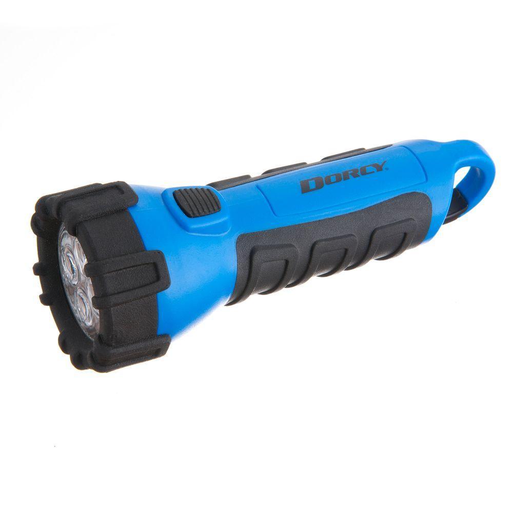 Battery Powered LED Carabineer Clip Floating Flashlight, Blue