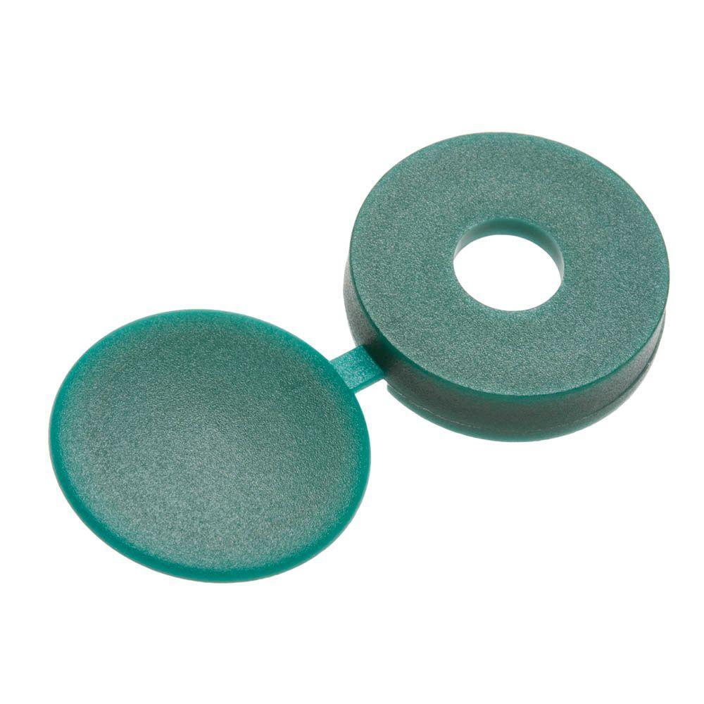 #6 Green Pan-Head Hinged Screw Cover (3-Pack)