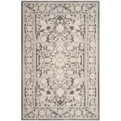 Reflection Dark Gray/Cream 3 ft. x 5 ft. Area Rug