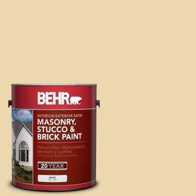 1-gal. #MS-35 Woodland Cream Satin Interior/Exterior Masonry, Stucco and Brick Paint