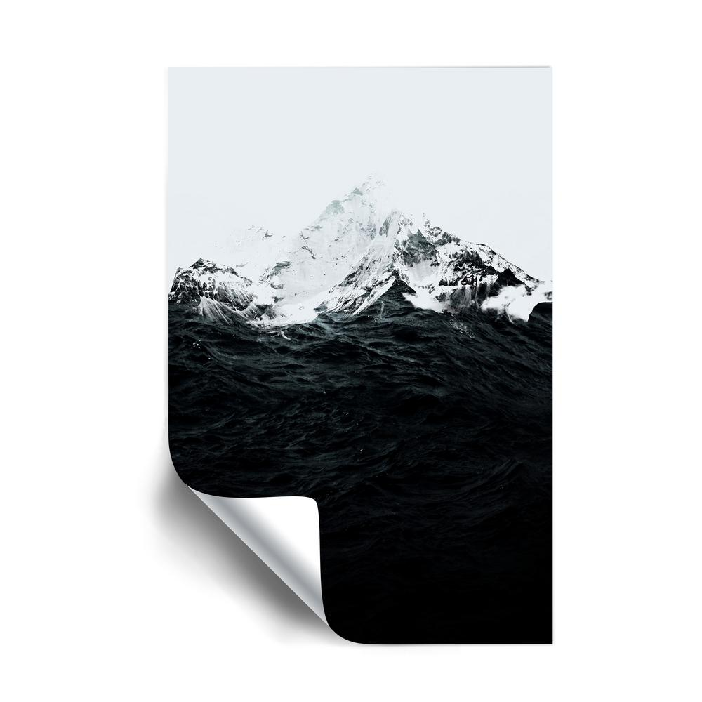 Artwall Those Waves Were Like Mountains Landscapes Removable Wall Mural 5far072a2436p The Home Depot