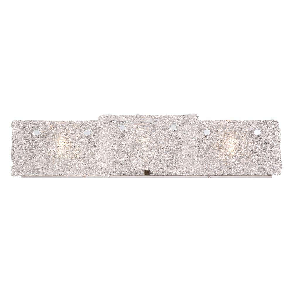 Caramico Collection 3-Light Chrome Bath Bar Light