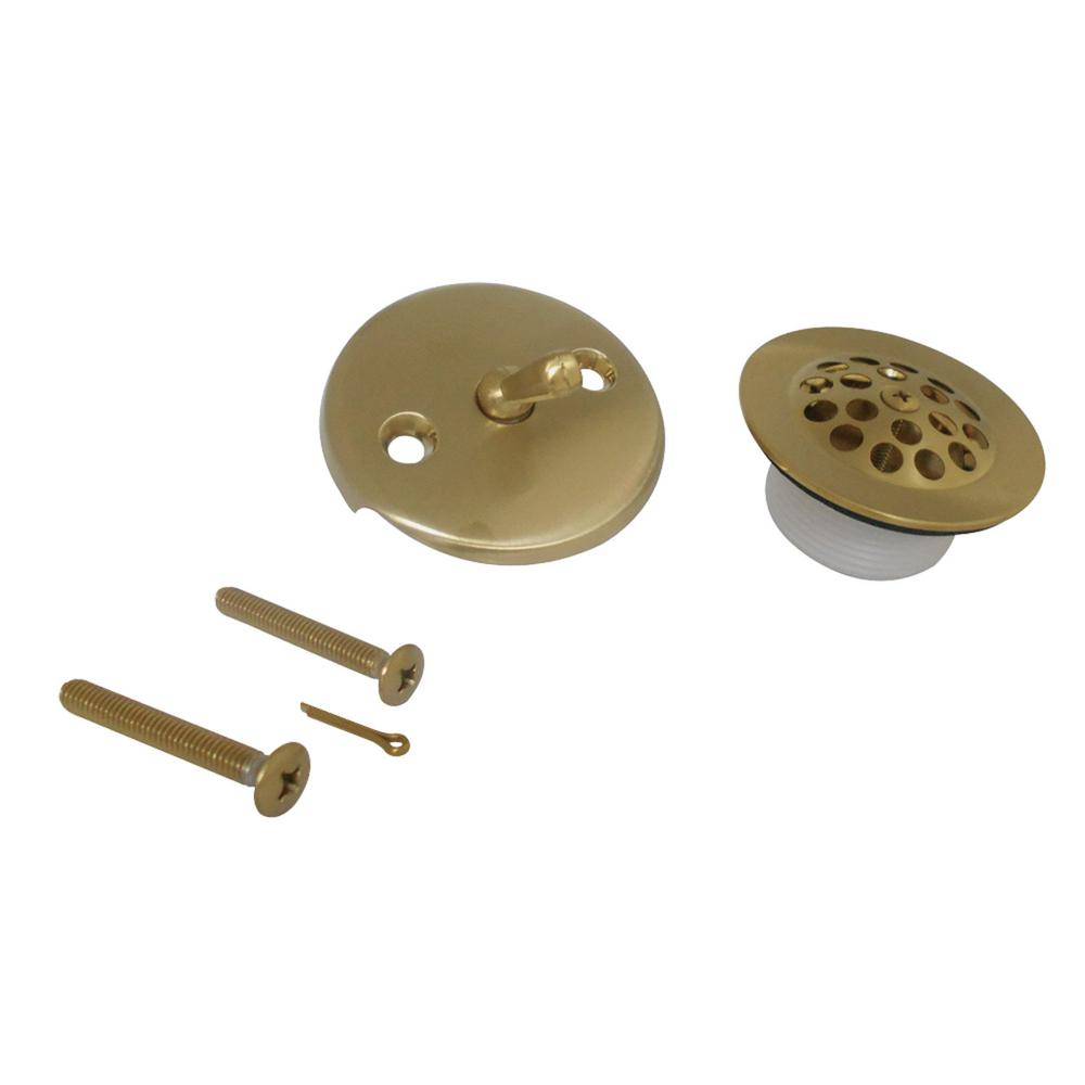 Kingston Brass Trip Lever Overflow Faceplate With Grid Drain Cover And Screws Satin