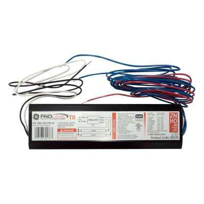 120 to 277-Volt Electronic Ballast for 8 ft.2 or 1-Lamp High Output T8 Fixture (Case of 10)