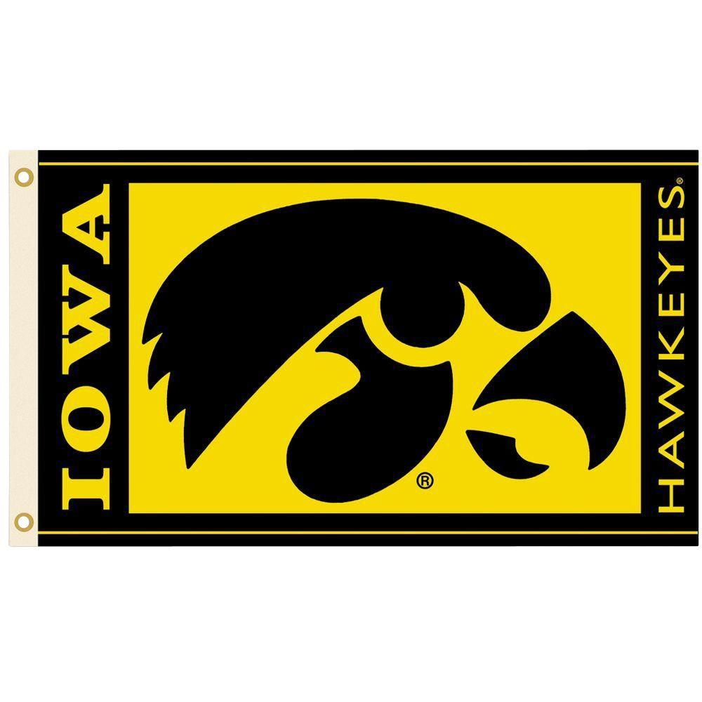 BSI Iowa Hawekeyes Set of 2 Car Flags