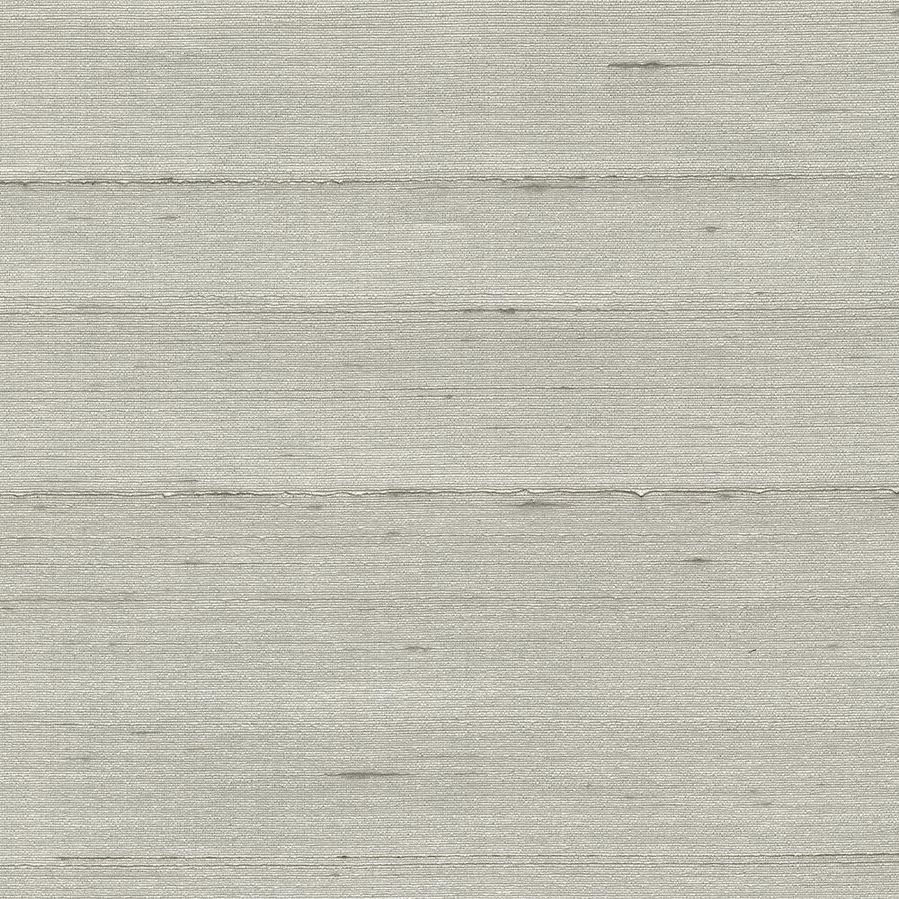 Kenneth James 72 sq. ft. Makati Platinum Silk Weave Wallpaper 2732-80058