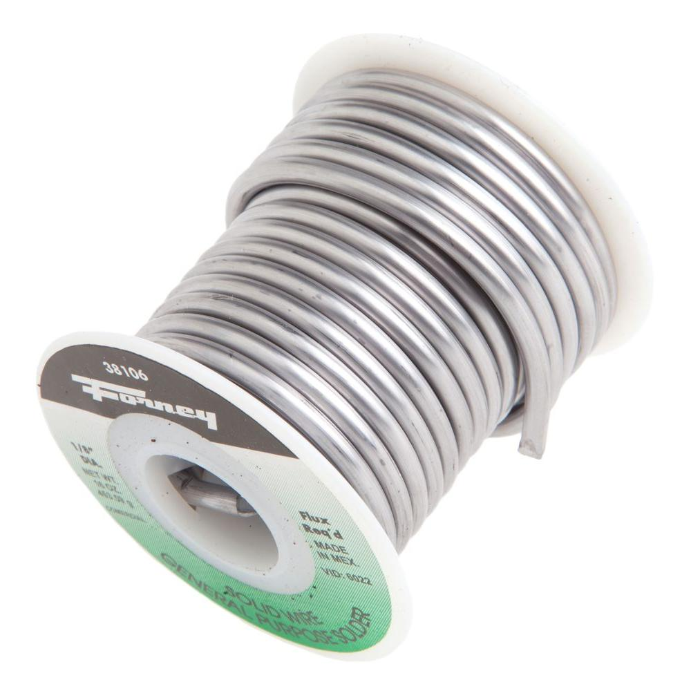 Forney 1/8 in. 1 lb. Commercial Grade Solid Wire Solder-38106 - The ...