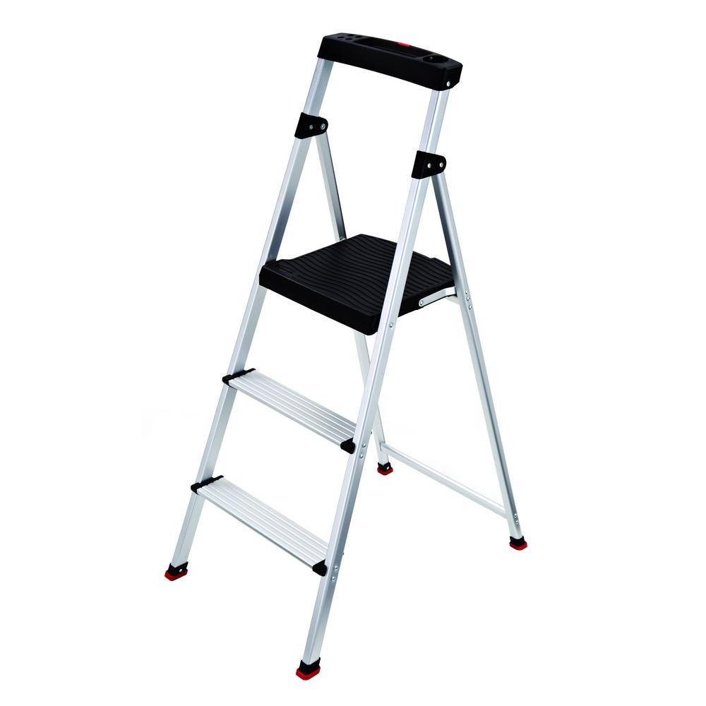 3-Step Aluminum Step Stool with 225 lb. Load Capacity Type II