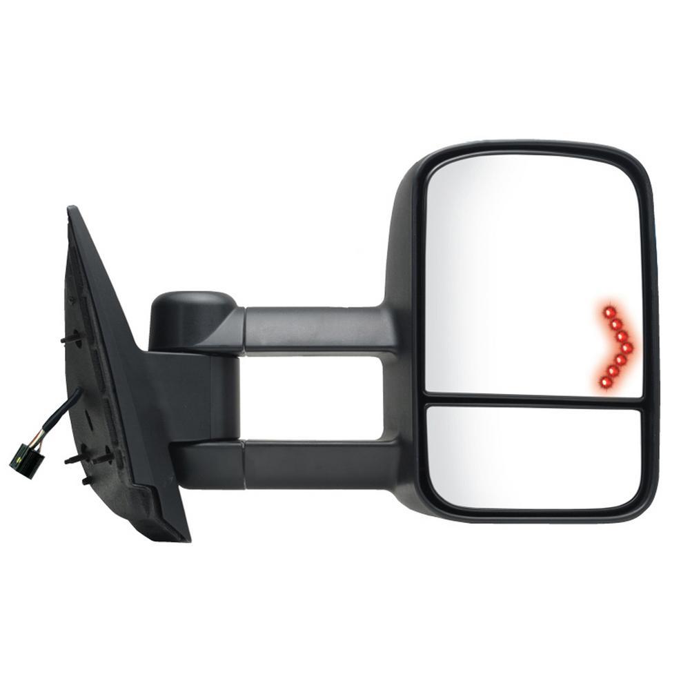 03-06 Avalanche Yukon Mirror Driver NEW Power with Heat Black Textured