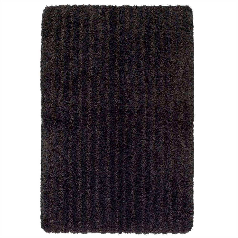 Shaw Living Saville Black 1 ft. 9 in. x 2 ft. 10 in. Bath Rug-DISCONTINUED