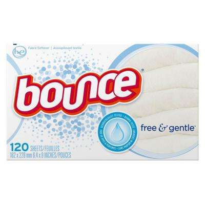 Free and Gentle Scent Dryer Sheets (120-Count)